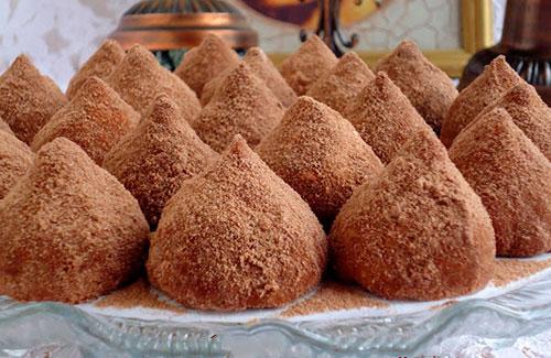 Шоколадно-кокосовое печенье (трюфеля)